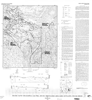 Historic Pictoric Map : Geologic map of The Homestead, Lake Fork, and Lick Creek Roadless Areas, Baker and Wallowa Counties, Oregon, 1986 Cartography Wall Art : 24in x 24in
