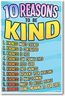 10 Reasons to Be Kind - New Classroom Motivational Poster