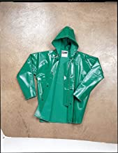 Tingley FR Rain Jacket w/Hood, PVC, Green, 4XL - J41108