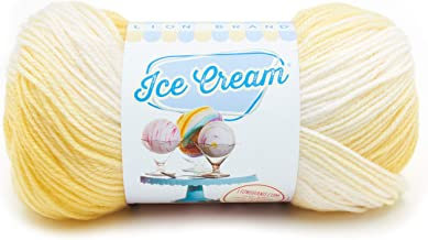 Lion Brand Yarn 923-211 Ice Cream Yarn, Lemon Meringue
