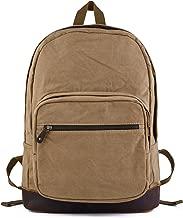 Gootium Canvas Backpack with Leather Trim, Unisex College Rucksack
