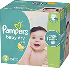 Diapers Size 2, 234 Count - Pampers Baby Dry Disposable Baby Diapers, One Month Supply