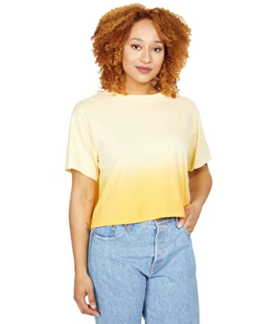 Champion The Cropped Tee Ombre (Adobe Wall Tan Ombre) Women