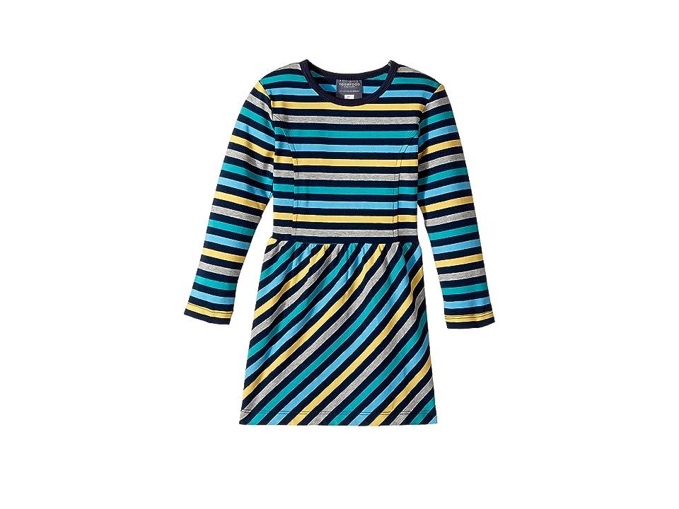 Toobydoo The Oscar Skater Dress (Toddler/Little Kids/Big Kids) (Multi/Green/Blue) Girl