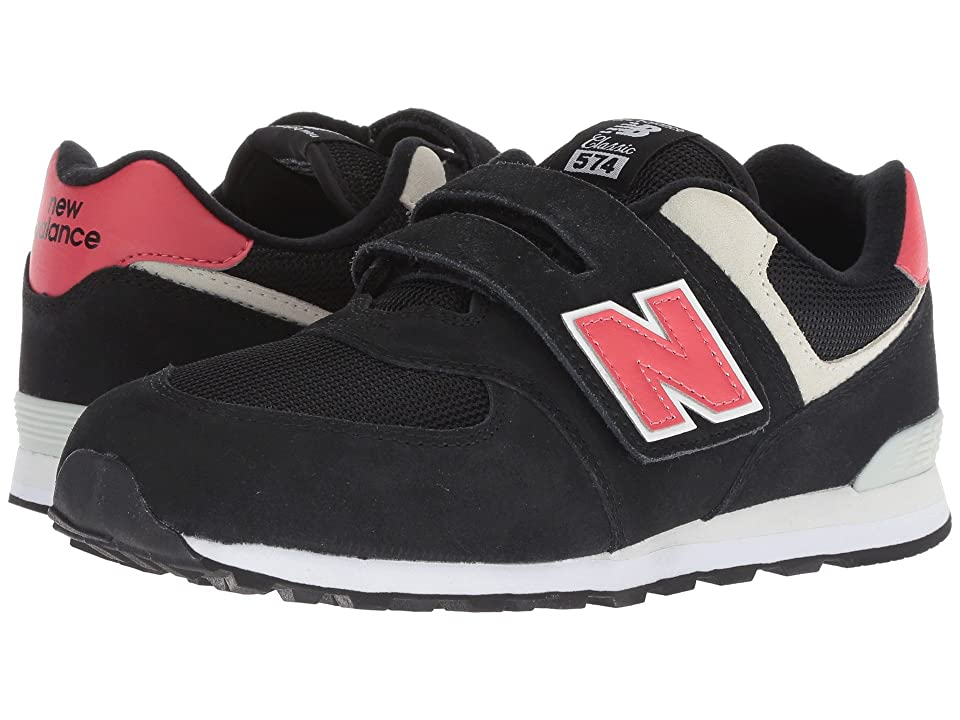 New Balance Kids YV574v1 (Little Kid/Big Kid) (Black/Pomelo) Boys Shoes