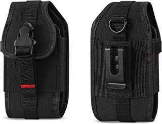 Krofel Pouch Cover Clip Side Holster Canvas Case for Samsung Rugby 2/3 / 4 / Convoy 4 / Kyocera Cadence/DuraXA/DuraXV/DuraXV Extreme/Pantech Breeze 4 / LG Cosmos 2/3 / Casio GzOne Ravine 2