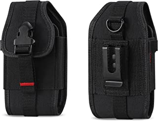 Rugged Case Durable Pouch Cover Holster with Metal Clip Belt Loop for Samsung Rugby 2/3 / 4 / Convoy 4 / Kyocera Cadence/DuraXV/DuraXA/Pantech Breeze 4 / LG Cosmos 2/3 / Casio GzOne Ravine 2
