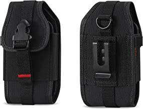 Rugged Case Durable Pouch Cover Holster with Metal Clip Belt Loop for Samsung Rugby 2/3 / 4 / Convoy 4 / Kyocera Cadence/D...