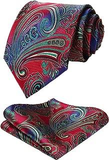 Paisley Tie Handkerchief Woven Classic Men's Necktie & Pocket Square Set