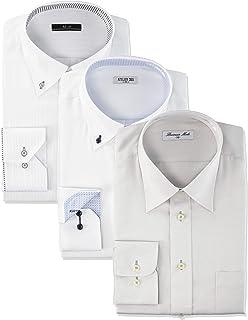 [アトリエサンロクゴ] ワイシャツ 3枚セット おまかせセット イージーケア 形態安定 長袖Yシャツ メンズ val-fux-3fix