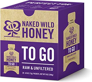 Naked Wild Honey To Go, Net Wt. 9 oz (20 packets - 0.45 oz each)
