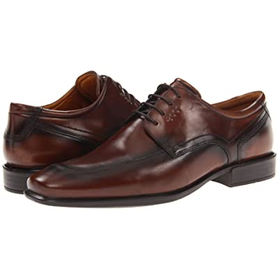 ECCO Cairo Apron Toe Tie (Walnut Oxford Leather) Men
