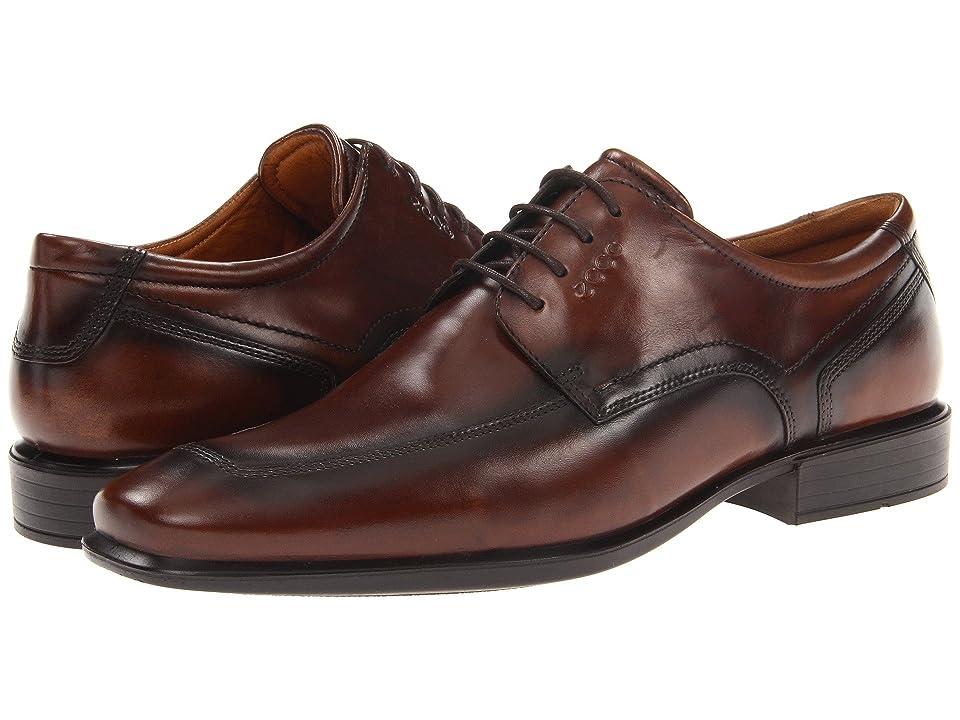 ECCO Cairo Apron Toe Tie (Walnut Oxford Leather) Men