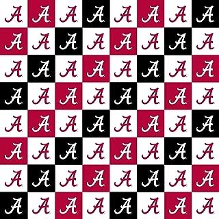 University of Alabama Cotton Fabric with New Mini Check Design-Newest Pattern-NCAA Cotton Fabric