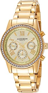 Akribos XXIV Women's Analogue Display Swiss Quartz Watch with Stainless Steel Bracelet