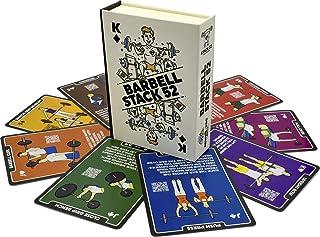 Stack 52 Barbell Oefenkaarten. Gewichtheffen Speelkaartspel. Video-instructies inbegrepen. Bodybuilding, Krachttraining en...