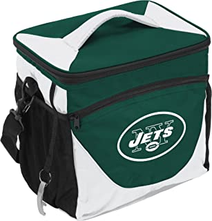 Logo Brands NFL New York Jets 24 Can Cooler, One Size, Navy