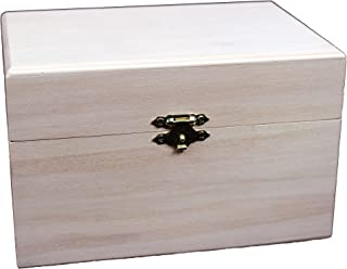Creative Hobbies® Ready to Decorate Wooden Recipe Box with Hinged Lid and Front Clasp - 6.75