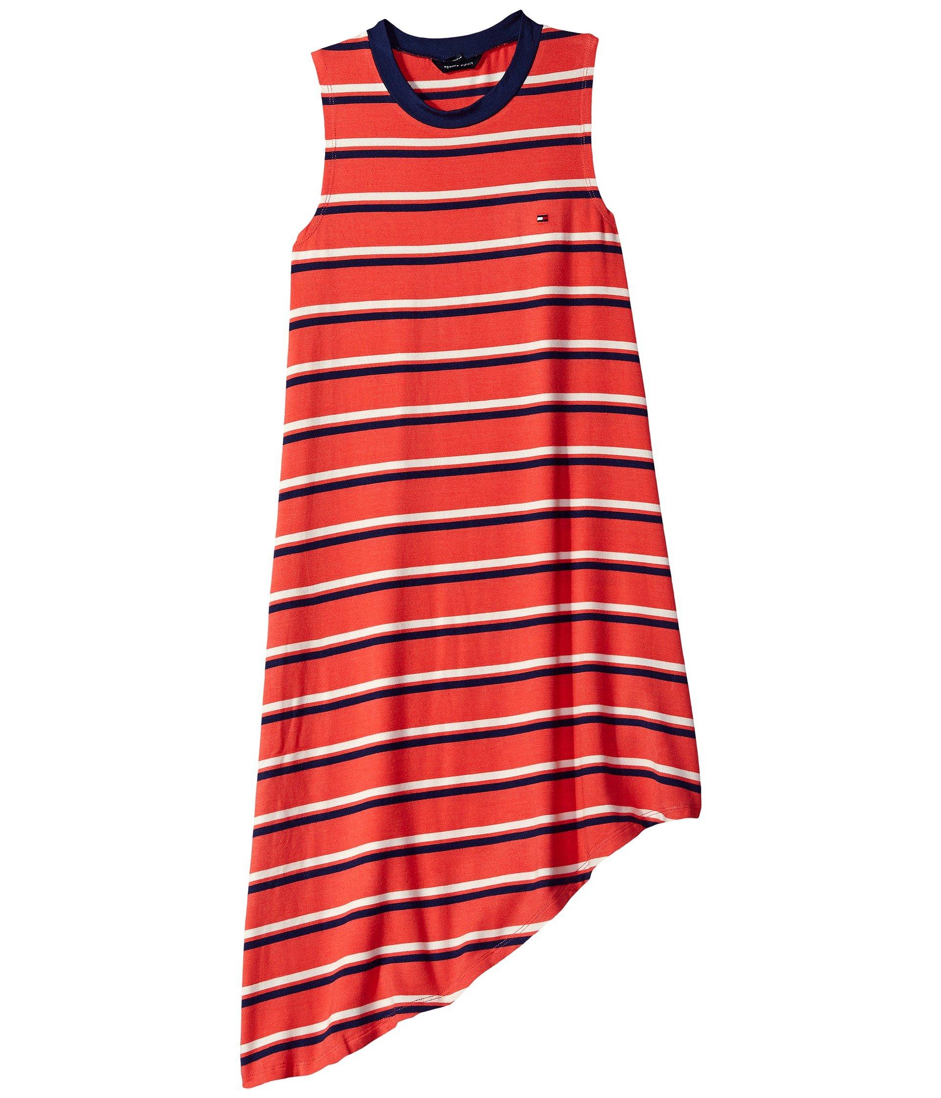 Vestido para Niña Tommy Hilfiger Kids Yarn-Dye Asymmetrical Dress (Big Kids)  + Tommy Hilfiger en VeoyCompro.net