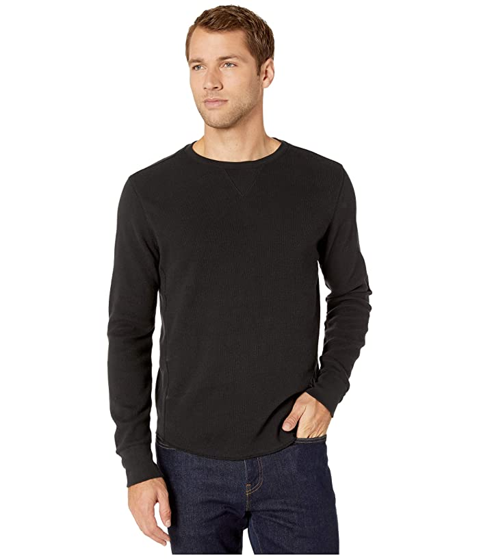 Lucky Brand  Brushed Thermal Crew Top (Jet Black) Mens Clothing