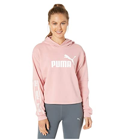 PUMA Amplified Cropped Hoodie (Bridal Rose) Women
