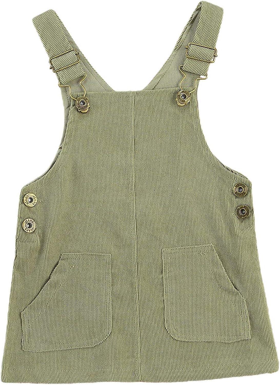 Dourbesty Toddler Baby Girl [Alternative dealer] Boy Excellent Plain Po Basic Overalls Corduroy