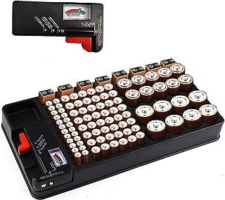 Organisateur de Stockage de Batterie pouvant contenir 110 emplacements de Piles de Tailles différentes pour Piles AAA, AA,...