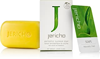 THE ORIGINAL Dead Sea Sulfur Soap Bar by Jericho - Natural Face and Body Treatment Soap with Sulphur and Minerals from the...