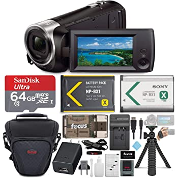 Sony HD Video Recording HDRCX405 HDR-CX405/B Handycam Camcorder (Black) + 64GB Premium Bundle