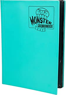 Monster Binder - 9 Pocket Matte Teal Album - Holds 360 Yugioh, Magic, and Pokemon Cards