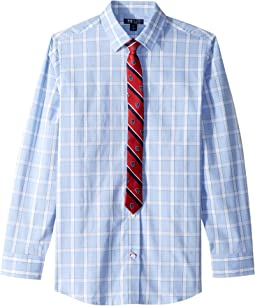 Stretch Open Plaid w/ Tie (Big Kids)