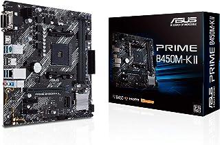 Asus Prime B450M-K II - Placa Base Micro-ATX AMD B450 Ryzen AM4 con Soporte M.2, HDMI/DVI/D-Sub, SATA 6 Gbps, 1 GB Etherne...