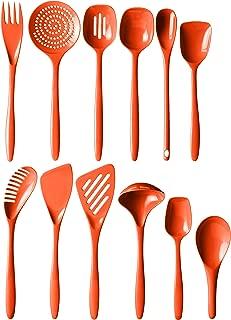Hutzler 3500-12OR Melamine Utensil Set, Full, Orange