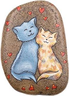 2 Gatos, Piedra Pintada a Mano, Gatos Pintados