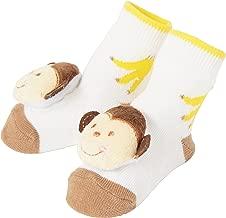 Baby Dumpling C.R. Gibson Monkey Rattle Sock Booties for Newborns, Infants, and Babies - 1 Pair
