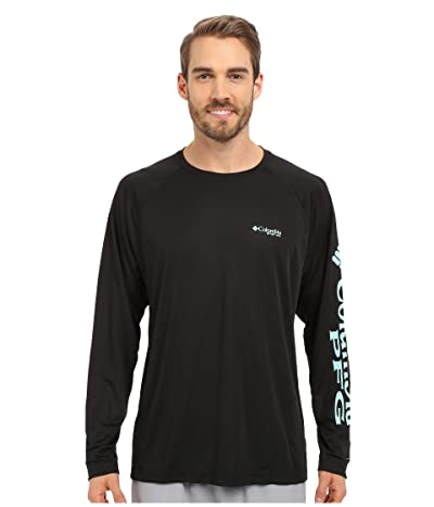 Columbia Terminal Tackletm L/S Shirt (Black/Gulf Stream Logo) Men