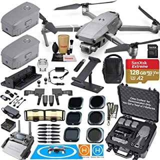 DJI Mavic 2 Pro Drone Quadcopter and Fly More Kit Combo New Hard Case Bundle Comes with 3 Batteries, Hasselblad Camera Gimbal, Hard Rugged Carrying Case & Must Have Accessories
