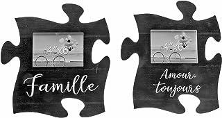 IH CASADECOR Puzzle Picture Set of 2 Frames, Multi