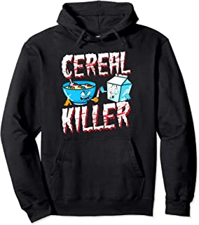Funny Halloween Costume Hoodie Cereal Killer