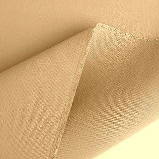 TOLKO 50cm schwerer Canvas Segeltuchstoff 100% Baumwolle | Wasserfester Zeltstoff 205cm breit | fester Planenstoff | Extra stark wetterbeständig | Meterware Baumwollstoffe Sand-Beige