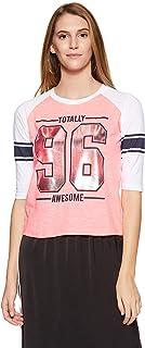 Unshackled Ladies Foil Print Tee US482 Women's Striped Regular Fit T-Shirt