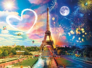 Buffalo Games - Night & Day Collection - Paris Love - 1000 Piece Jigsaw Puzzle