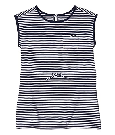 Vineyard Vines Kids Edgartown Striped T-Shirt Dress (Toddler/Little Kids/Big Kids) (Deep Bay) Girl