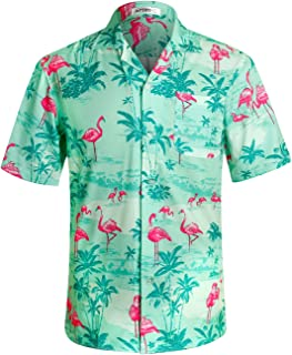 APTRO Men's Hawaiian Shirts Short Sleeve Button Down Casual Beach Tropical Shirts Party Holiday
