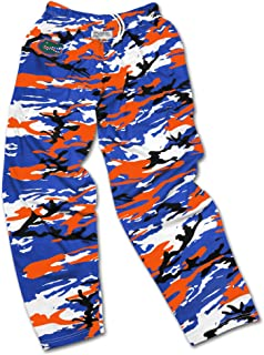 Men's Officially Licensed NCAA Camo & Zebra Print Team Logo Casual Active Pants