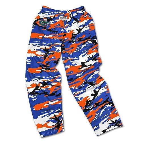6beed653bd02f5 Zubaz Men's Officially Licensed NCAA Camo & Zebra Print Team Logo Casual  Active Pants