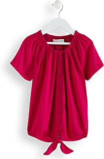 Marca Amazon - RED WAGON Blusa con Detalle Anudado para Niña