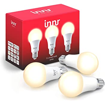 Innr E27 Lampadina LED, White, Dimmerabile, Compatible with Philips Hue* & Echo Plus (Hub Richiesto) RB 265 (3-Pack)