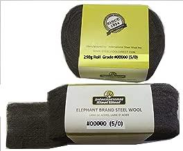 Elephant Brand #00000 Steel Wool, Professional Grade: 250g Project Roll