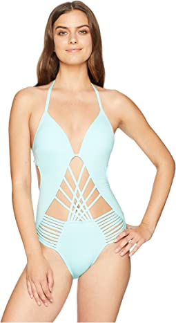 Kenneth Cole Sexy Solids Push-Up One-Piece